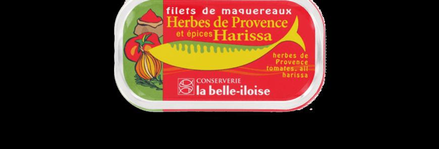 Filets de maquereaux herbes de Provence Harissa la belle-iloise 112.5g