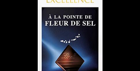 Tablette chocolat pointe fleur de sel Lindt Excellence 100g