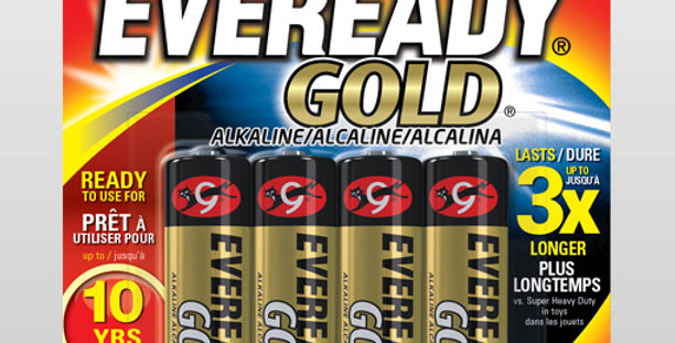 Piles AA4 Eveready gold 4pces