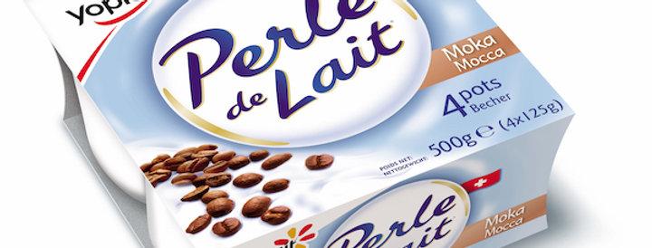 Yogourt mocca Perle de lait 4 x 125g