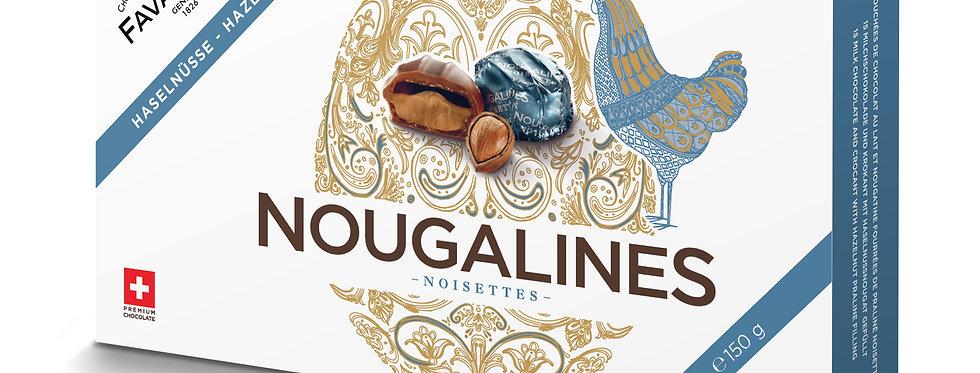 Boîte chocolat nougalines noisettes Favarger 150g