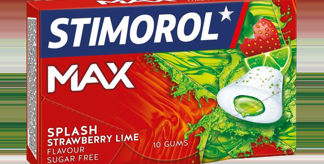 Chewing gum boite fraise/citron vert Max Stimorol 10pces