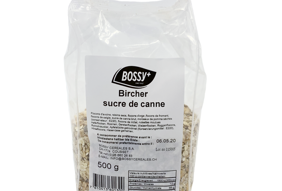 Bircher sucre de canne Bossy 500g