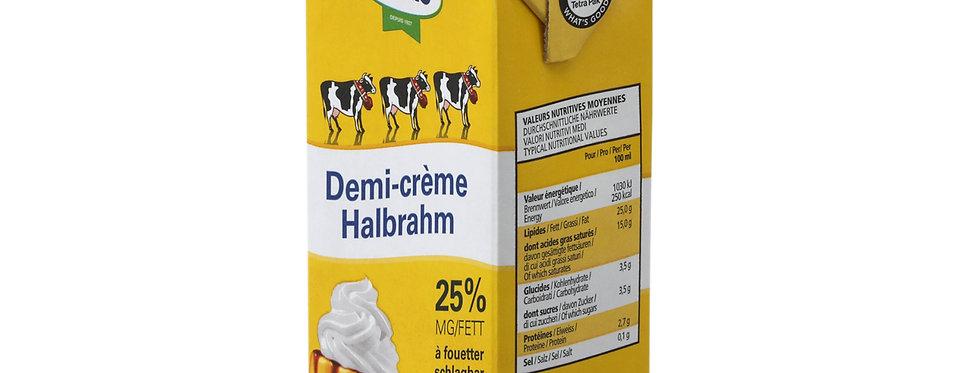 Demi-crème à fouetter 25% Cremo