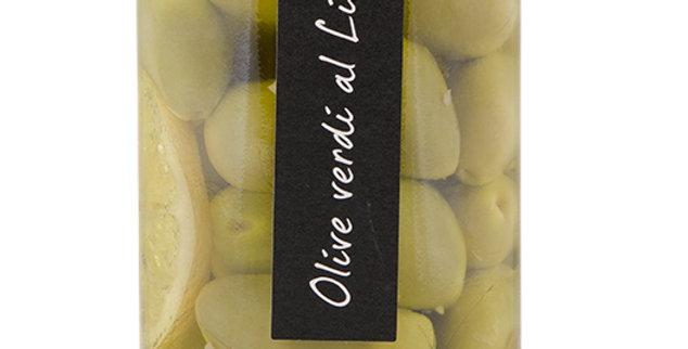 Olives vertes au citron 280g