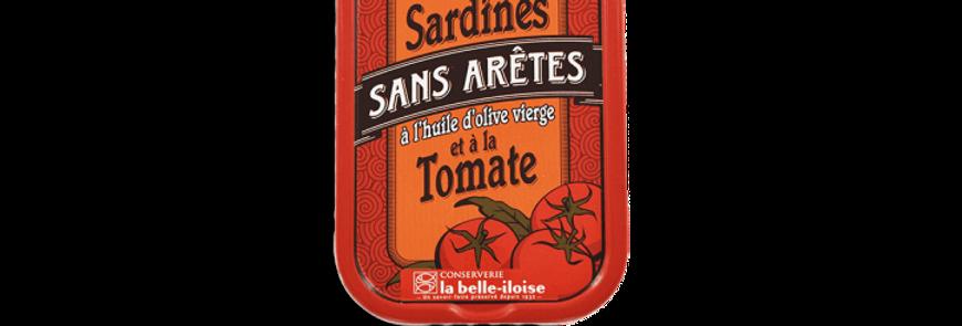 Sardines sans arêtes huile d'olive et tomate la belle-iloise 115g