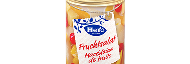 Macédoine de fruits conserve Hero 420g