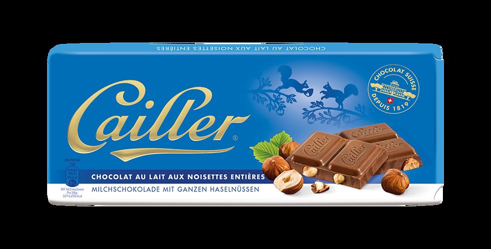 Tablette chocolat lait Noisettes entières Cailler 100g