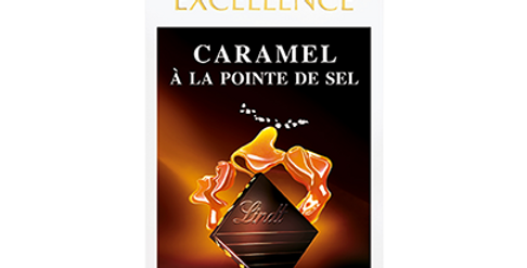 Tablette chocolat Caramel pointe de sel Lindt Excellence 100g