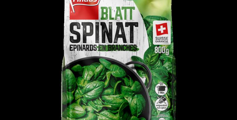 Epinards en branches suisse garantie Findus 800g