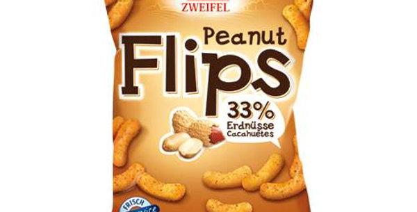 Chips cacahuète peanut flips Zweifel 120g