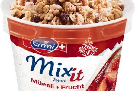 Yogourt mix it fraise Müesli Emmi 200g