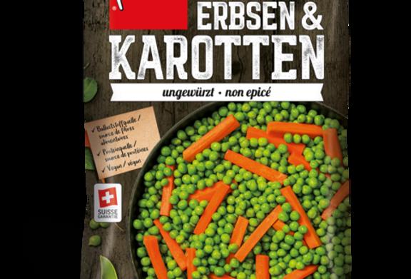 Petits pois/carottes non épicé suisse garantie Findus 600g