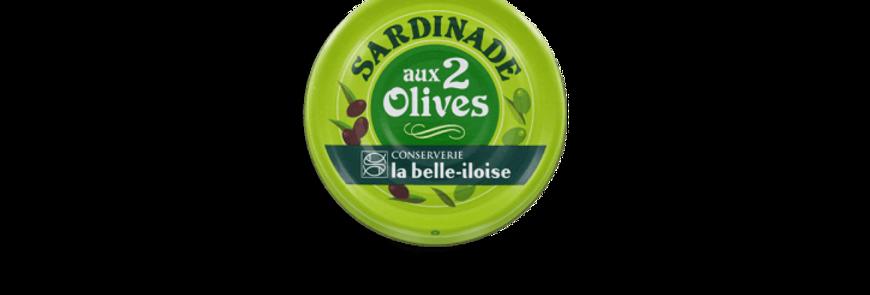 Sardinade 2 olives la belle-iloise 60g