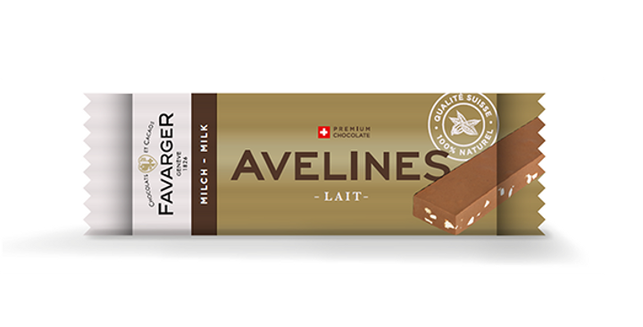 Barre chocolat Avelines lait Favarger 30g