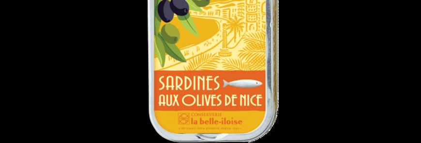 Sardines olives de Nice la belle-iloise 115g