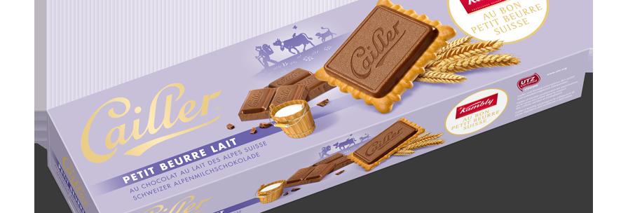 Biscuits Petits beurres chocolat au lait Cailler 125g