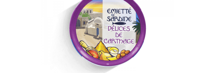 Émietté de sardine Délices de Carthage la belle-iloise 80g