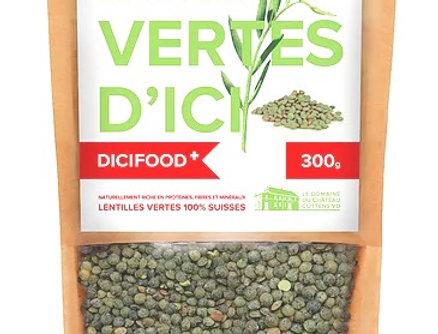 Lentilles vertes Suisse Dicifood 300g