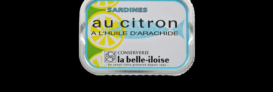 Sardines huile d'arachide au citron la belle-iloise 115g