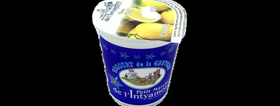 Yogourt marché Intyamon de la Gruyère citron 150g