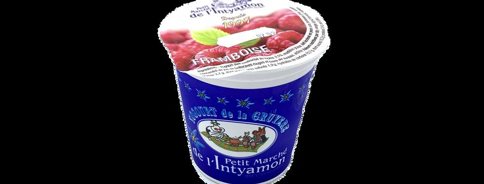 Yogourt marché Intyamon de la Gruyère framboise 150g