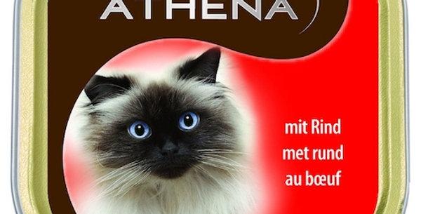 Nourriture chat pâté boeuf barquette Athena 100g