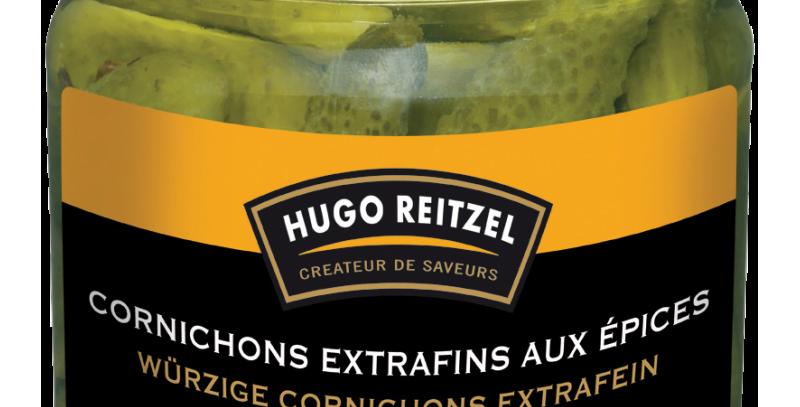 Cornichons extrafins aux épices Hugo Reitzel 200g
