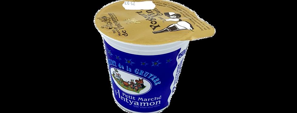 Yogourt marché Intyamon de la Gruyère au vin cuit 150g