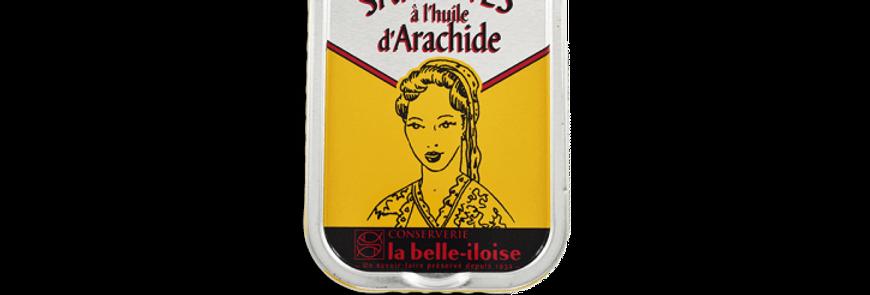 Sardines huile d'arachide la belle-iloise 115g