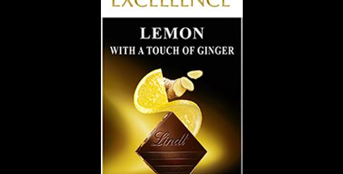 Tablette chocolat Citron Gingembre Lindt Excellence 100g