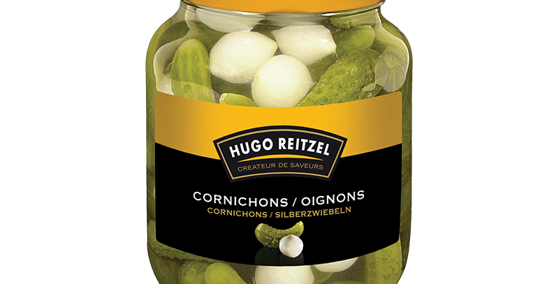 Cornichons/oignons Hugo Reitzel 230g