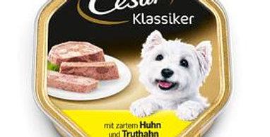 Nourriture chien pâté volaille barquette Cesar 150g