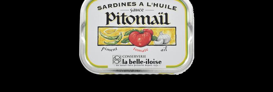Sardines huile d'olive pitomaïl la belle-iloise 115g