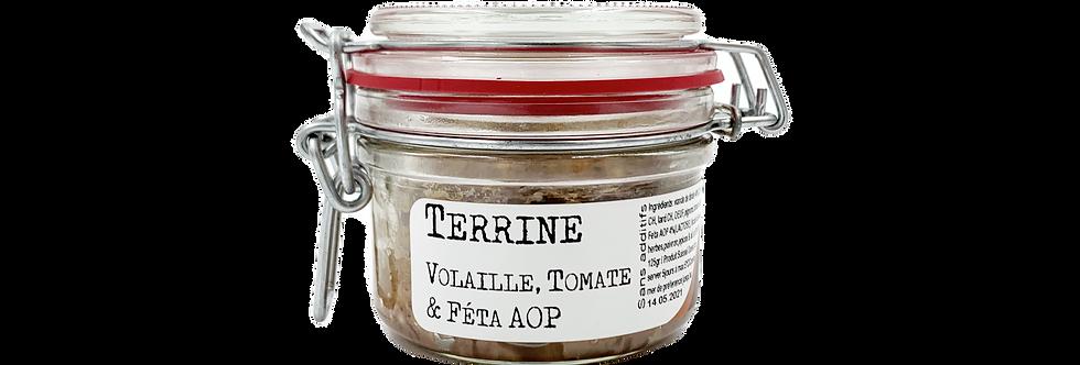 Terrine de volaille, tomate et féta AOP Chez Denis 125g