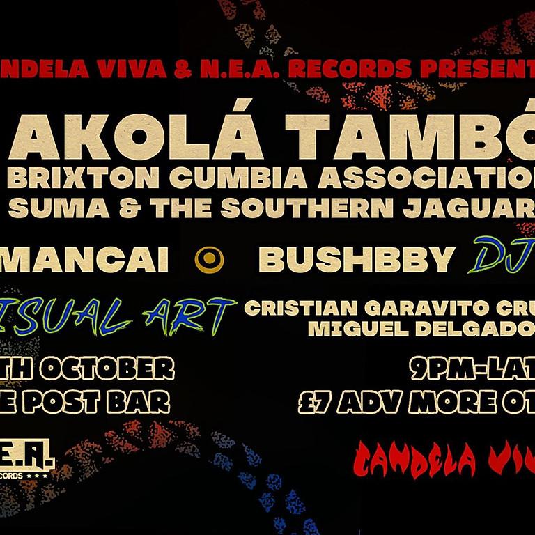 AKOLA TAMBO // BRIXTON CUMBIA ASSOCIATION // SUMA & THE SOUTHERN JAGUARS