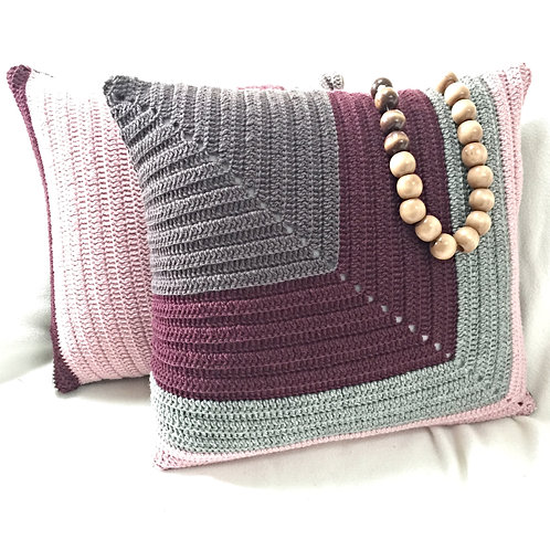 Pure Wool Crochet Cushion Cover