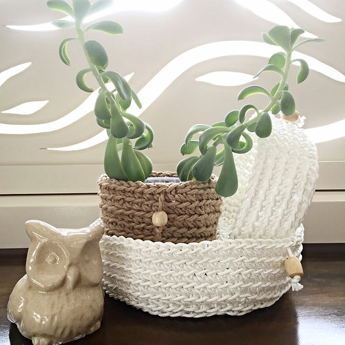White Poly Storage Basket