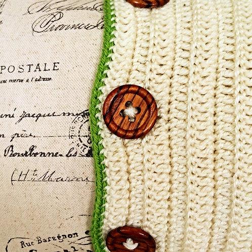 Contemporary Green Crochet Featured Cushion