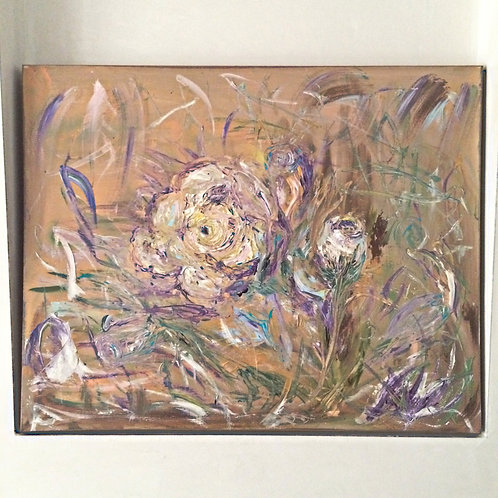 """Roses"" Acrylic on Canvas"