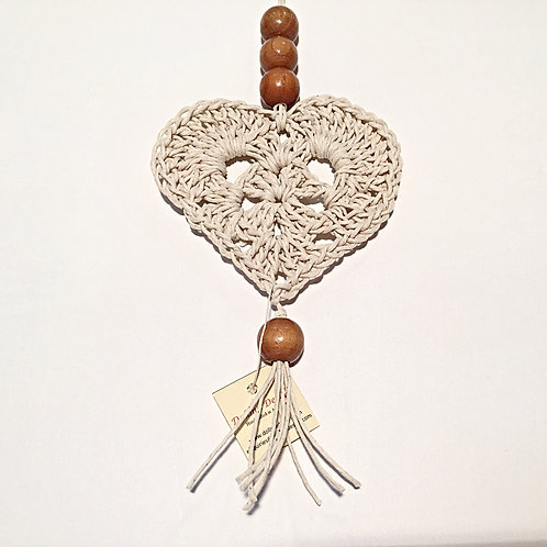 Cotton Love Heart Wall Hanging