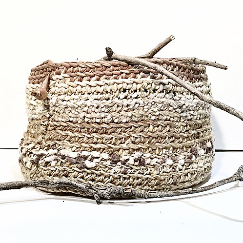Large Jute, Cotton and Yarn Basket