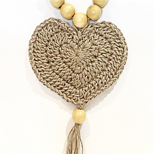 Jute Love Heart Wall Hanging