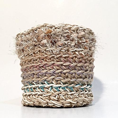 Small Jute, Cotton and Yarn Basket