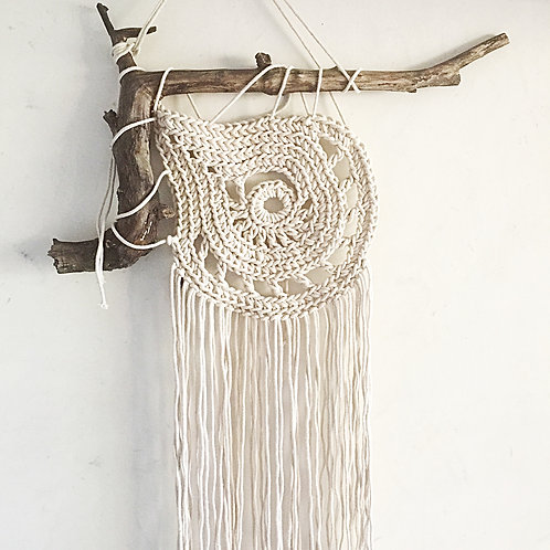 Large Cotton Paisley Wall Hanging/Dream Catcher
