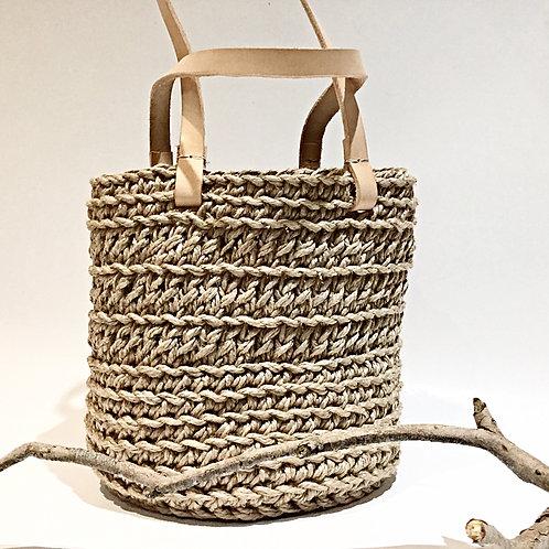 Crochet Double Jute Bag
