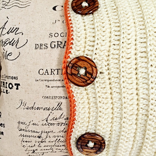 Contemporary Orange Crochet Featured Cushion