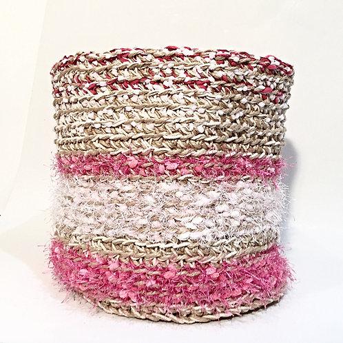Large Jute, Cotton and Yarn Basket