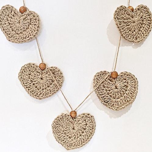 Chunky Love Hearts Garland
