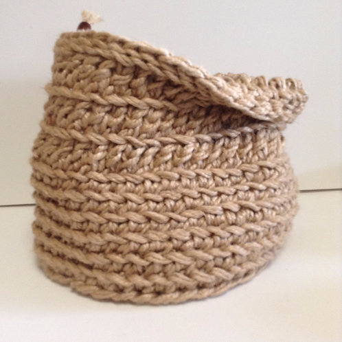 """""""Bucket"""" Pot Plant Pouch and Storage Basket"""